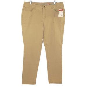 Faded Glory NWT ultimate skinny khaki jeans 18A